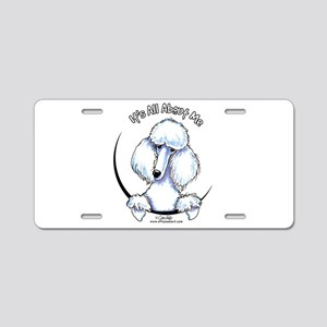 White Standard Poodle IAAM Aluminum License Plate
