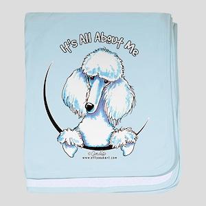 White Standard Poodle IAAM baby blanket