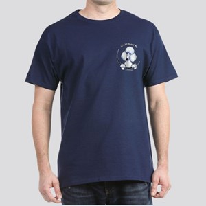 White Std Poodle IAAM Pocket Dark T-Shirt