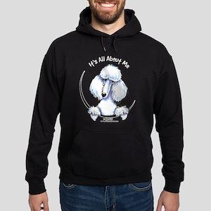 White Standard Poodle IAAM Hoodie (dark)