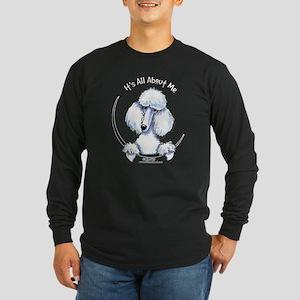 White Standard Poodle IAAM Long Sleeve Dark T-Shir