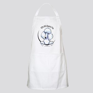 White Standard Poodle IAAM Apron