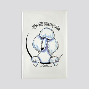White Standard Poodle IAAM Rectangle Magnet
