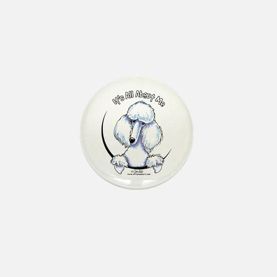 White Standard Poodle IAAM Mini Button