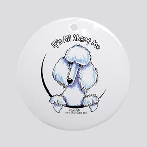 White Standard Poodle IAAM Ornament (Round)