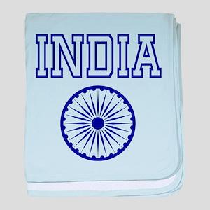 India English baby blanket