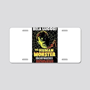 The Human Monster Aluminum License Plate