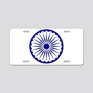 India Emblem Aluminum License Plate