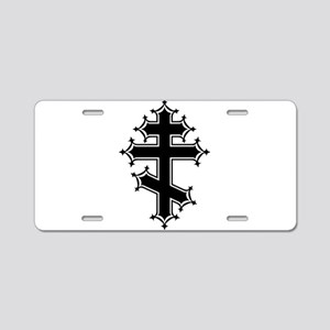 Fancy Orthodox Aluminum License Plate