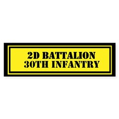 2d Battalion 30th Infantry Sticker (Bumper)