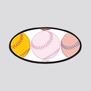 Watercolor Baseballs Patch