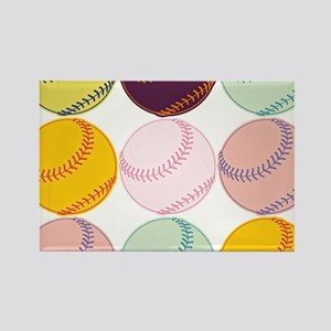 Watercolor Baseballs Magnets