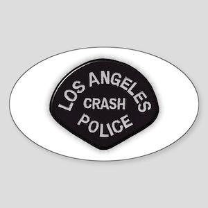 LAPD CRASH Sticker (Oval)