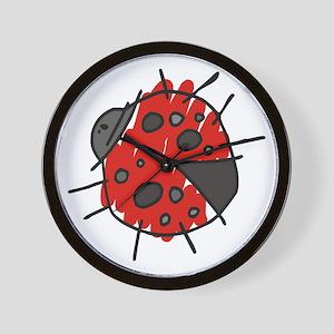 Crayon Lucky Ladybug Adoption Wall Clock