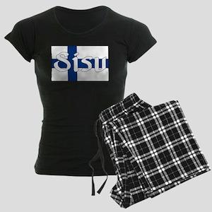 Finnish Sisu (Finnish Flag) Women's Dark Pajamas
