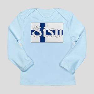 Finnish Sisu (Finnish Flag) Long Sleeve Infant T-S