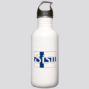 Finnish Sisu (Finnish Flag) Stainless Water Bottle