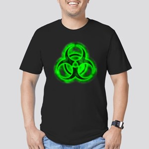 Green Glow Biohazard Men's Fitted T-Shirt (dark)