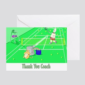 Thank you coach,tennis Greeting Card