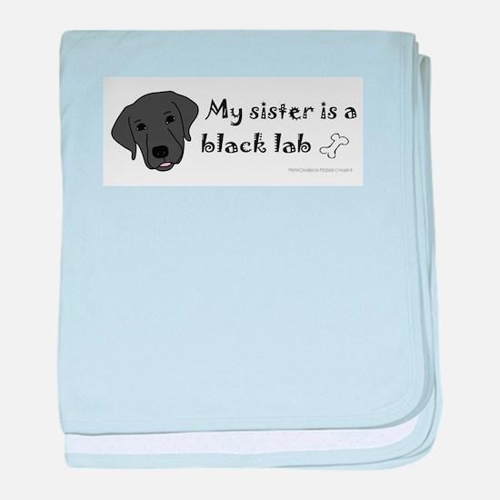black lab gifts baby blanket