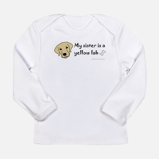 yellow lab gifts Long Sleeve Infant T-Shirt