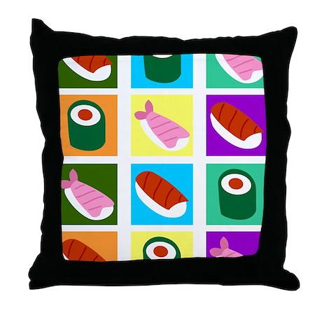 Sushi Pop Art Throw Pillow