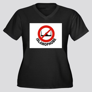 NO SHARIA LAW Women's Plus Size V-Neck Dark T-Shir
