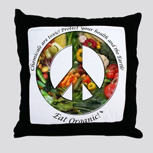 Throw Pillow Peace Organic Vegetables