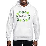 Bagpipe Shamrock Oval Hooded Sweatshirt
