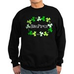 Bagpipe Shamrock Oval Sweatshirt (dark)