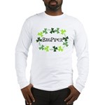 Bagpipe Shamrock Oval Long Sleeve T-Shirt