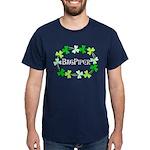Bagpipe Shamrock Oval Dark T-Shirt