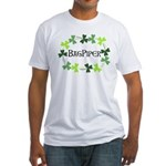 Bagpipe Shamrock Oval Fitted T-Shirt