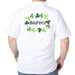Bagpipe Shamrock Oval Golf Shirt