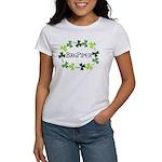 Bagpipe Shamrock Oval Women's T-Shirt