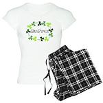 Bagpipe Shamrock Oval Women's Light Pajamas