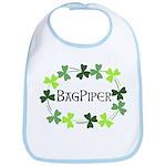 Bagpipe Shamrock Oval Bib