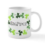 Bagpipe Shamrock Oval Mug