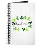 Bagpipe Shamrock Oval Journal