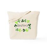 Bagpipe Shamrock Oval Tote Bag
