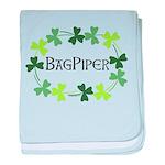 Bagpipe Shamrock Oval baby blanket