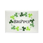 Bagpipe Shamrock Oval Rectangle Magnet (10 pack)