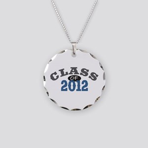Class Of 2012 Blue Necklace Circle Charm