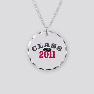 Class of 2011 Red Necklace Circle Charm