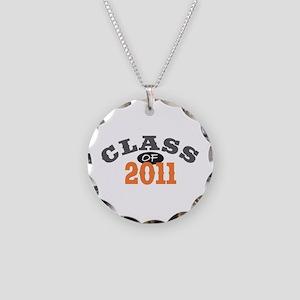 Class Of 2011 Orange Necklace Circle Charm