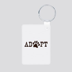 Adopt an Animal Aluminum Photo Keychain