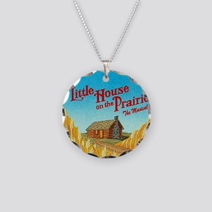 House on Prairie Ingalls Necklace Circle Charm