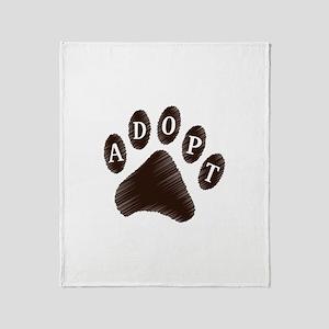 Animal Adoption Paw Throw Blanket