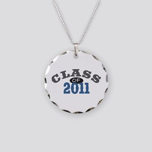 Class Of 2011 Blue Necklace Circle Charm