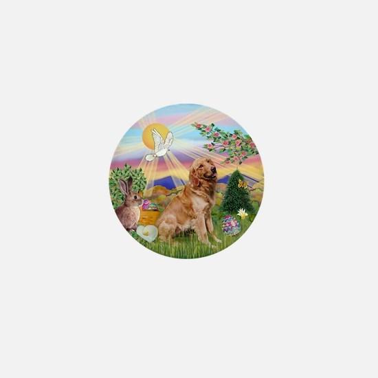 Golden Retriever Easter Mini Button